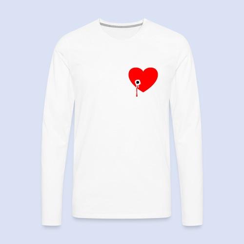 Cœur troué - T-shirt manches longues Premium Homme