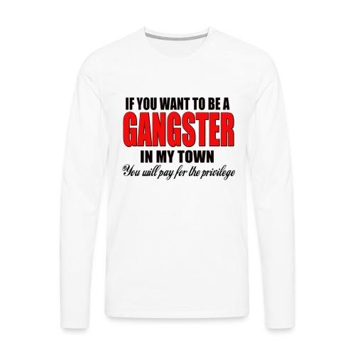 ville gangster - T-shirt manches longues Premium Homme