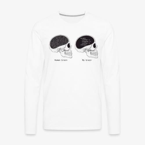 Human programmer brain | Geeky | Web jokes - Men's Premium Longsleeve Shirt