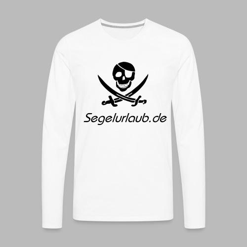 Piraten Flaggen Shirt Segelurlaub - Männer Premium Langarmshirt