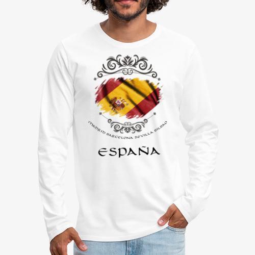 Spain Vintage Flag - Männer Premium Langarmshirt
