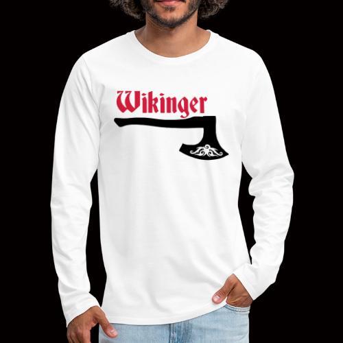 Wikinger-Axt - Männer Premium Langarmshirt