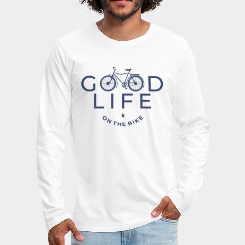cycliste bonne vie - T-shirt manches longues Premium Homme