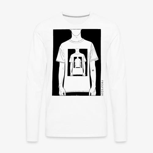 Recursion | Loop | Repeat | Optical illusion - Men's Premium Longsleeve Shirt