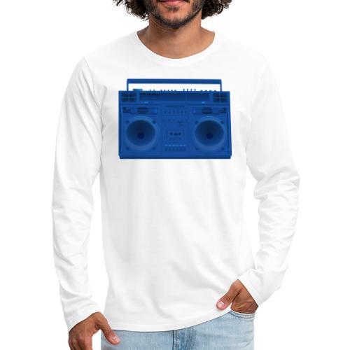 Bestes Stereo blau Design online - Männer Premium Langarmshirt