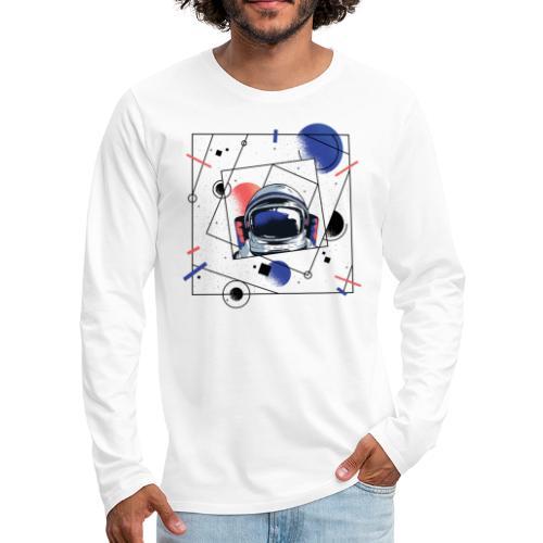 Beste Astronaut Weltraum Designs - Männer Premium Langarmshirt