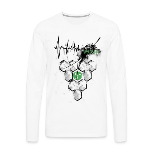 Raijin Hero-Heartbeat - Männer Premium Langarmshirt