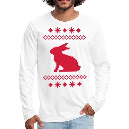 Norwegerhase hase kaninchen häschen bunny langohr - Männer Premium Langarmshirt
