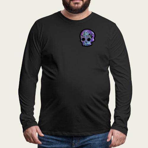 Skull craneo metalico - Camiseta de manga larga premium hombre