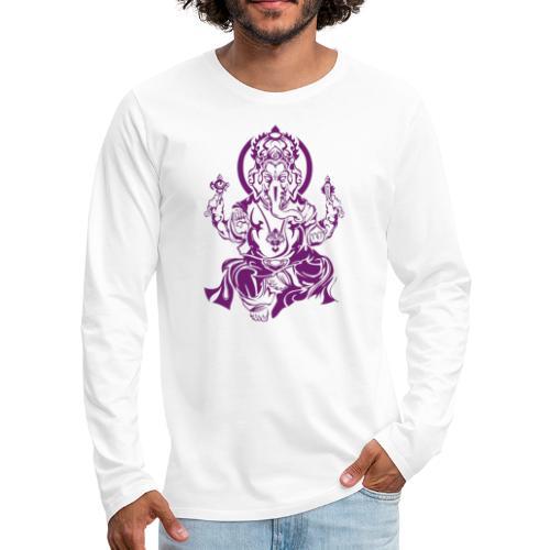 Ganesha Glücksgott - Männer Premium Langarmshirt