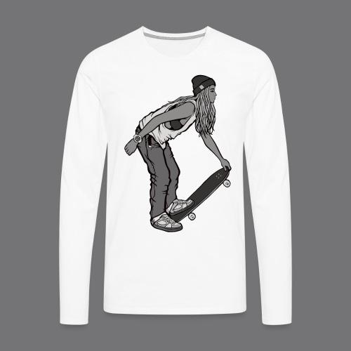SKATEBOARDING Tee Shirt - Men's Premium Longsleeve Shirt