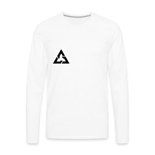 Angle Logo Brand - Maglietta Premium a manica lunga da uomo