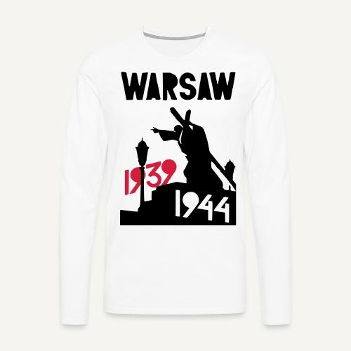 Warsaw 1939-1944 - Koszulka męska Premium z długim rękawem