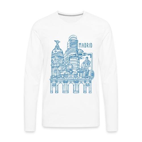 MADRID COLLAGE AZUL - Camiseta de manga larga premium hombre