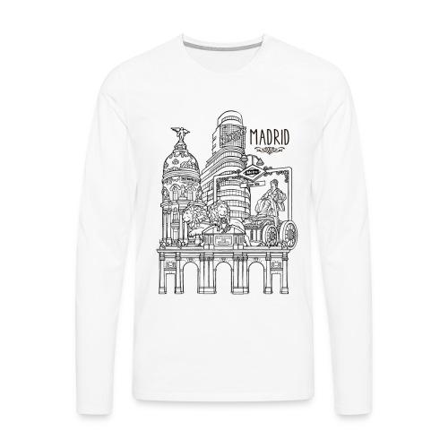 MADRID COLLAGE NEGRO - Camiseta de manga larga premium hombre
