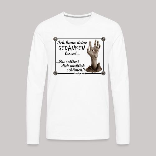 simply wild Gedanken lesen on white - Männer Premium Langarmshirt