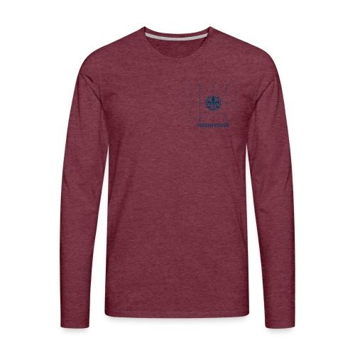 test1 - Långärmad premium-T-shirt herr