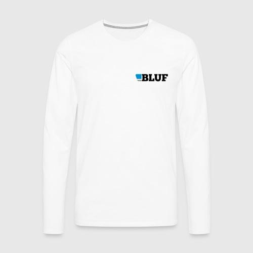 blufblacktext - Men's Premium Longsleeve Shirt