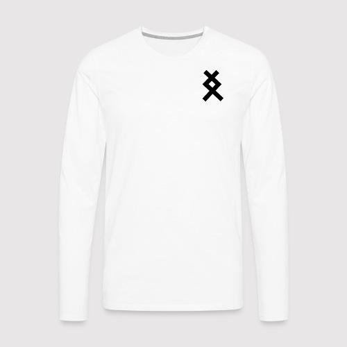DANE - Left Black - Men's Premium Longsleeve Shirt