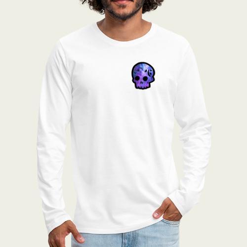 Skull craneo nebulosa - Camiseta de manga larga premium hombre