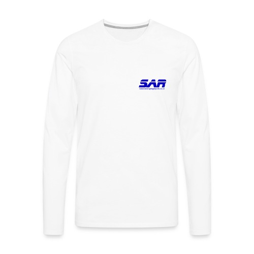 sar logo blue on transparent - Men's Premium Longsleeve Shirt