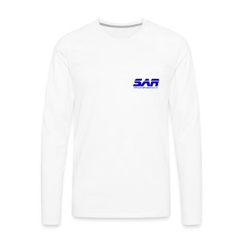 sar logo blue on transparent - Men's Premium Longsleeve Shirt