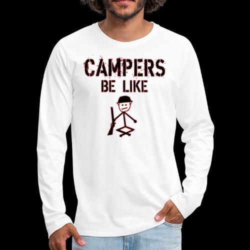 Camper Gaming - Männer Premium Langarmshirt