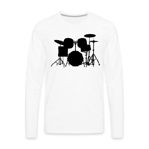 Drumset 1 Kontur schwarz - Männer Premium Langarmshirt