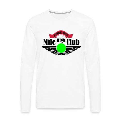 mile high club - Mannen Premium shirt met lange mouwen