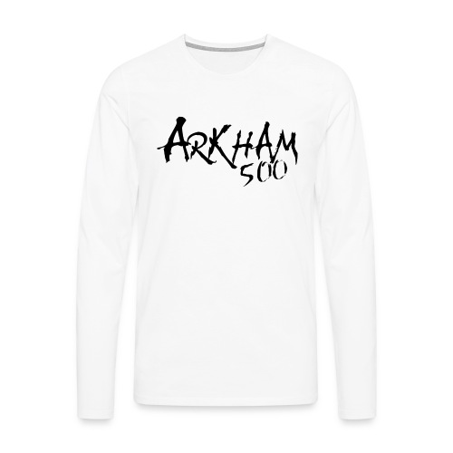 arkham sort spreadshirt png - Premium langermet T-skjorte for menn