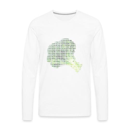 Vegan - Premium langermet T-skjorte for menn