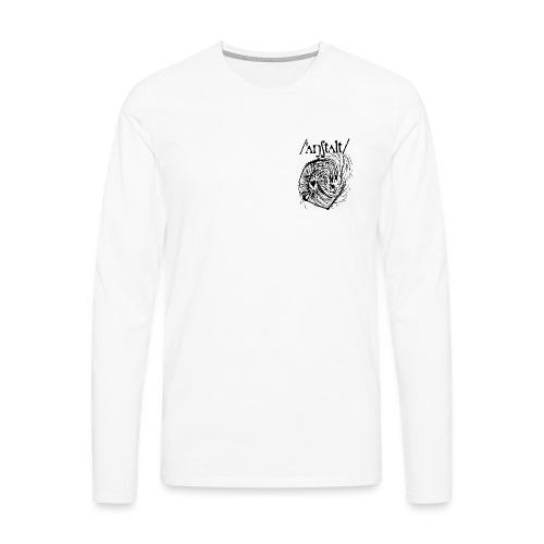 logo mit wesen (schwarz) - Männer Premium Langarmshirt