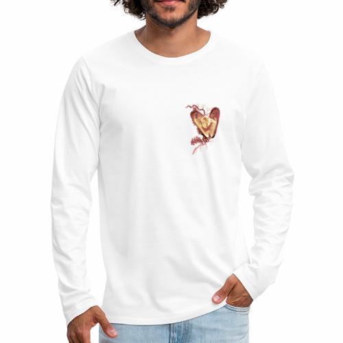 Golden Shell Heart / Cuore Conchiglia con Oro - Maglietta Premium a manica lunga da uomo