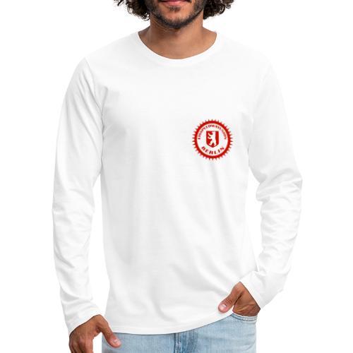 Logo in Rot Weiß - Männer Premium Langarmshirt