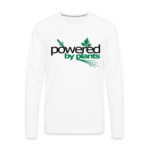 POWERED BY PLANTS - Männer Premium Langarmshirt
