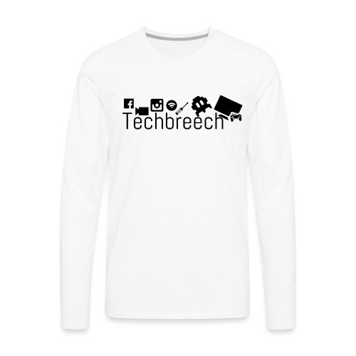 Logotype Techbreech - Långärmad premium-T-shirt herr
