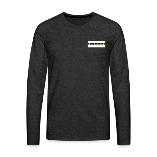 Concentrate on white - Men's Premium Longsleeve Shirt