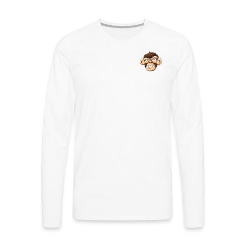 CBMonkey Logo3 fw png - Men's Premium Longsleeve Shirt