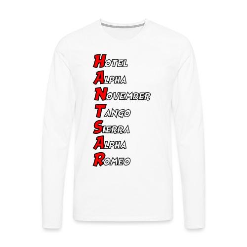 HANTSAR - Phonetic - Men's Premium Longsleeve Shirt