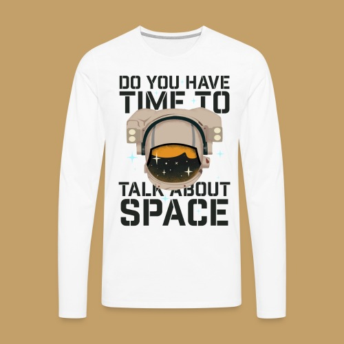 Time for Space - Koszulka męska Premium z długim rękawem