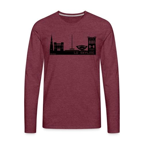 Lu skyline de Terni - Maglietta Premium a manica lunga da uomo