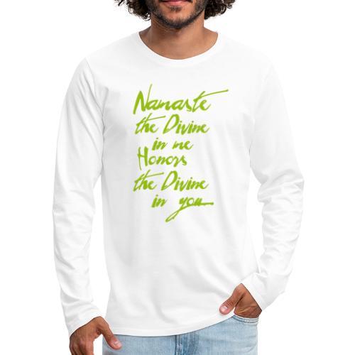 Namaste Yoga Tshirt Yogigruss vor der Yogapraxis - Männer Premium Langarmshirt