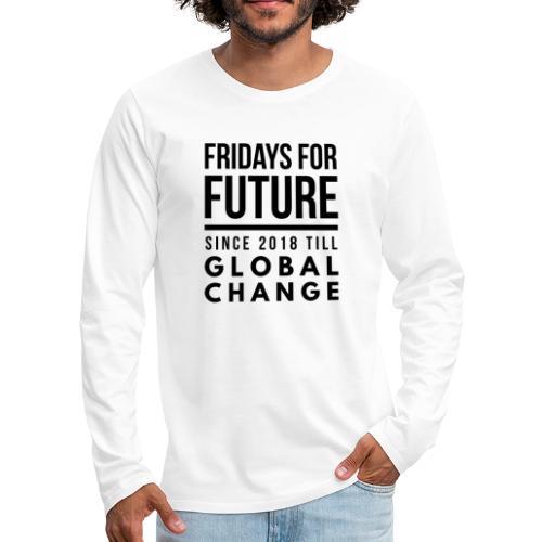 Fridays for Future till GlobalChange RescueTheBlue - Männer Premium Langarmshirt