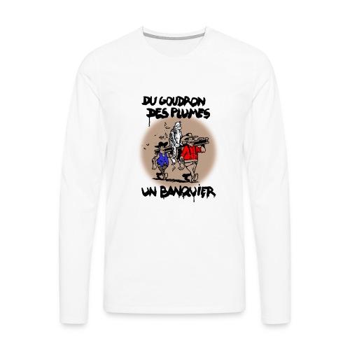 goudron - T-shirt manches longues Premium Homme