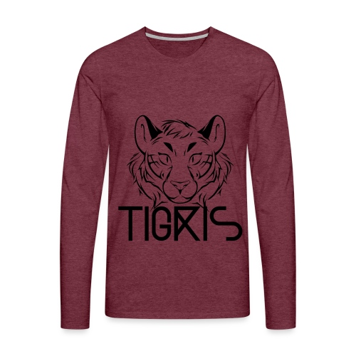 Tigris Logo Picture Text Black - Men's Premium Longsleeve Shirt