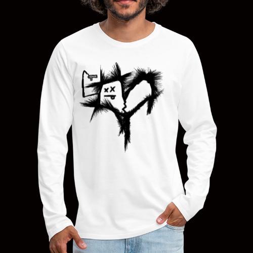 """"""" BROKEN HEARTED """" - Långärmad premium-T-shirt herr"""
