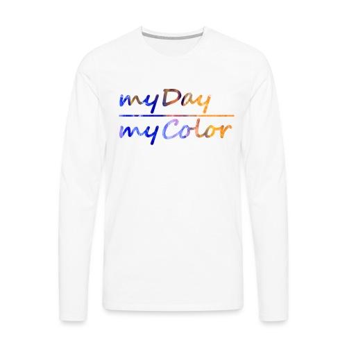 myDay Schriftzug - Männer Premium Langarmshirt