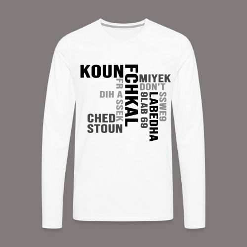 KOUN FCHKAL Nuance de gris - T-shirt manches longues Premium Homme
