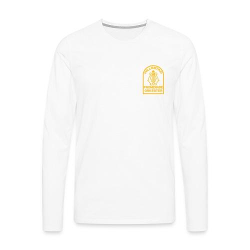 logo 6cm - Premium langermet T-skjorte for menn