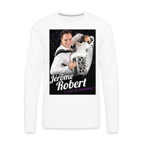 TSHIRT JEROME ROBERT NOIR jpg - T-shirt manches longues Premium Homme